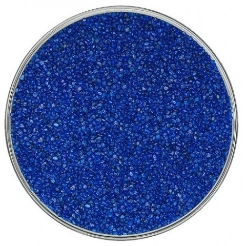 Кварцевый песок, темно-синий