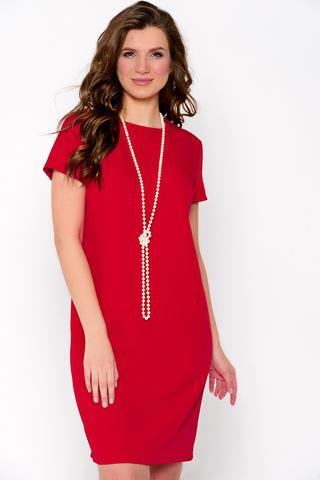 Классическое платье полуприталенного силуэта. По спинке замок.Рукав короткий. (Длина: 44-46=92см; 48=94см; 50=96см; 52=98см;)