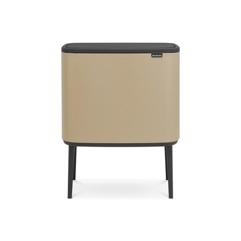 Мусорный бак Touch Bin Bo (3 х 11 л),  Минерально-золотой, арт. 316265 - фото 1