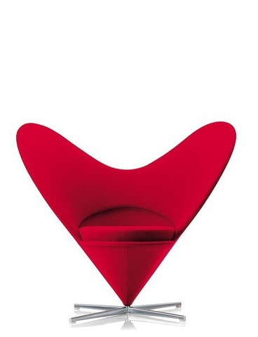 replica heart cone armchair (wool)
