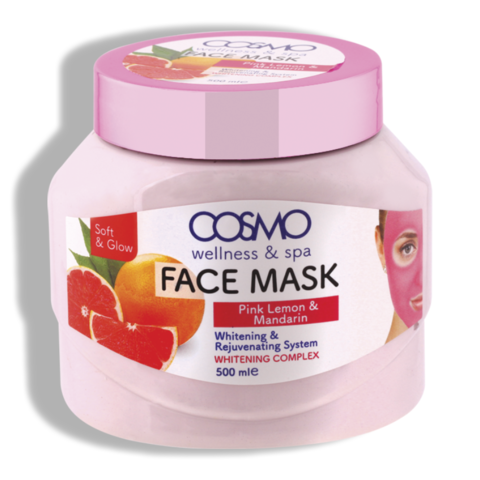 Маска для лица из розового лимона и мандарина