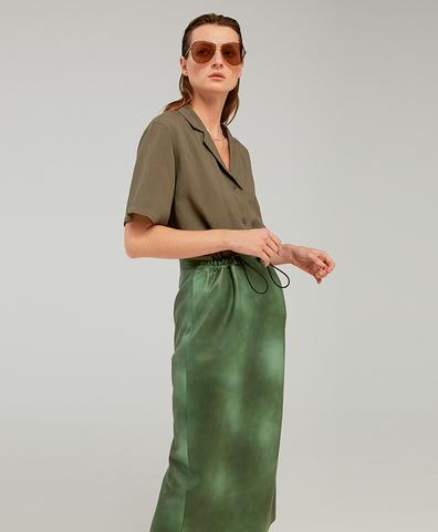 Кожаная юбка SHABBY GREEN SKIRT