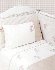 Бампер для детской кроватки 390x45 Luxberry Совята