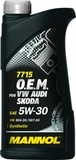 Mannol 7715 O.E.M. 5W-30 API SN/CF - Синтетическое моторное масло для автомобилей Volkswagen, Audi, Skoda, Seat