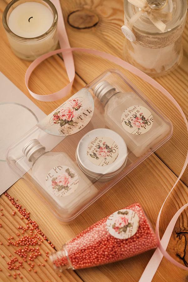 Наклейки на упаковку для мыла Винтажные розы
