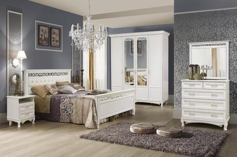 Спальня Венеция Белая эмаль