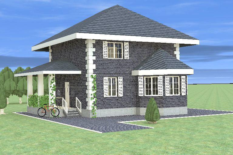 """Строительство каменных домов Дом из камня """"МД-К-120"""" 120 кв.м. 1p.jpg"""