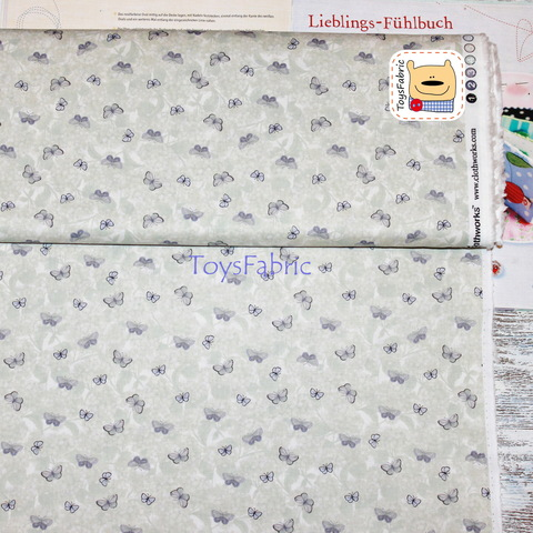 Ткань для пэчворка 20776 (нежные мотыльки) 45х55см