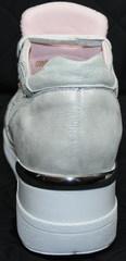 Спортивные туфли на танкетке Topas 4C-8045 Silver.