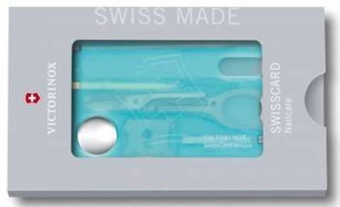Швейцарская карточка Victorinox SwissCard Nailcare, голубая