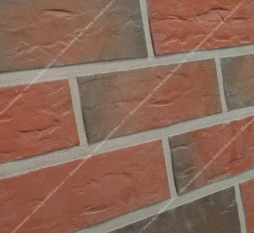 Фасадная плитка Roben, Rhon, Riemchen, цвет пестрый (bunt), мерейная (genarbt), 240x9x71
