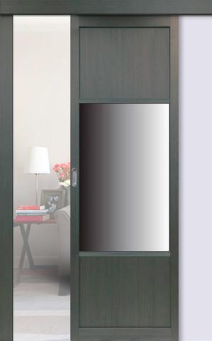 Перегородка межкомнатная Optima Porte 131.111 зеркало, цвет венге, глухая (за 1 кв.м)