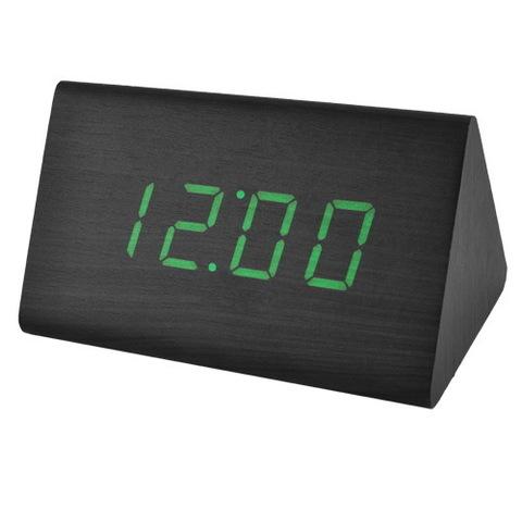 Часы сетевые 868-4 зеленые, USB