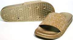 Модные шлепанцы J.B.P. Shoes NU25 Gold.