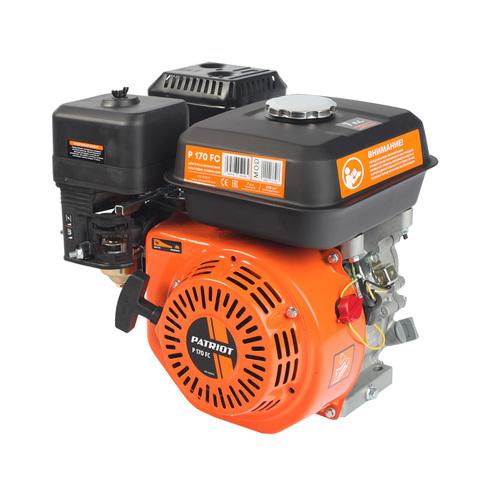 Двигатель PATRIOT P170FC, Мощность 7,0 л.с.; 208см³; 3600об/мин; бак 3,6л.; хвостовик конус; вес 15 кг.