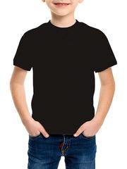 235-1 футболка детская, черная