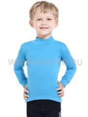 Терморубашка из шерсти мериноса Norveg Soft City Style Blue детская