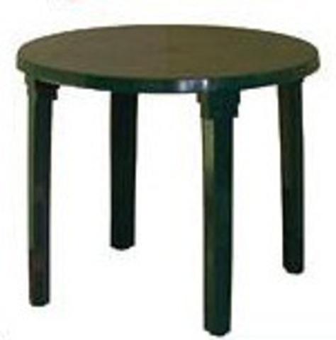 Стол круглый Ø91 темн.зел (ИжПласт)