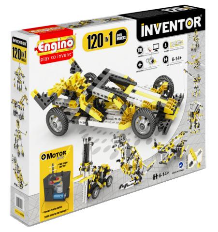 Engino Набор 120 Моделей с Мотором, серия Изобретатель