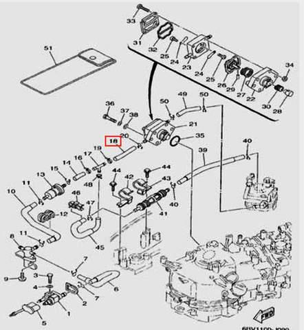 Шланг L=68mm для лодочного мотора F5 Sea-PRO(9-18)