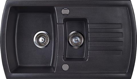 Мойка для кухни Kuppersberg ALBA 1,5B1D BLACK METAL.