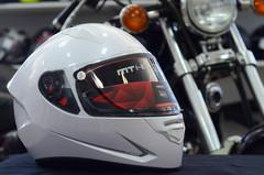 Мотошлем MT Stinger Solid, белый