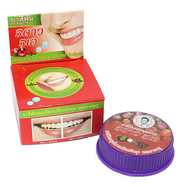 5 Star Зубная паста порошковая Мангустин Herbal Clobe & Mangosteen Toothpaste, 25 г