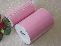Фатин в рулончиках розовый