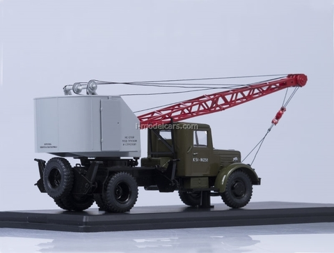 MAZ-200 Truck Crane K-51 khaki-gray Start Scale Models (SSM) 1:43
