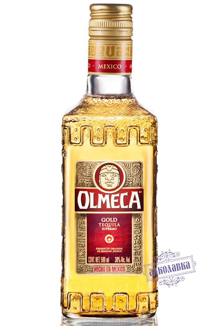 ОЛМЕКА. ТЕКИЛА ЗОЛОТАЯ. 0,5 Л