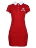 Red women's polo-T-shirt