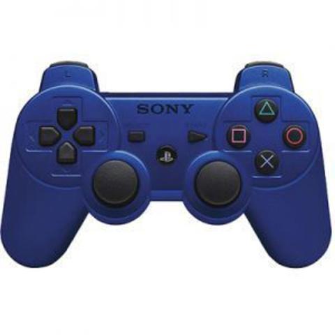 PS3 Контроллер игровой беспроводной (синий, копия)