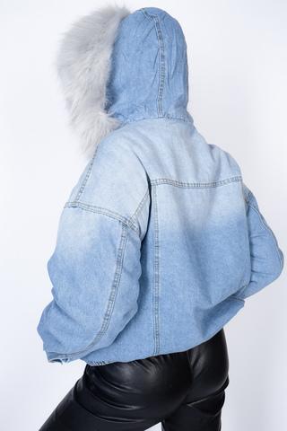 джинсовая куртка с мехом женская зима интернет-магазин