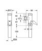 Внешнее смывное устройство для унитаза нажимное Grohe Rondo 37139000