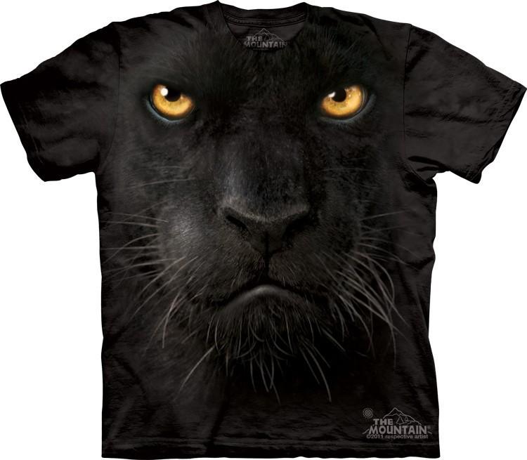 Футболка Mountain с изображением черной пантеры - Black Panther Face