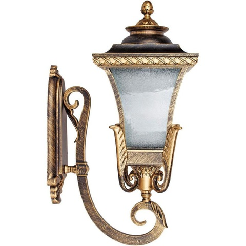 Светильник садово-парковый, 60W 230V E27 IP44 черное золото PL4021 (Feron)