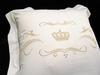 Наволочка для валика 15х40 Christian Fischbacher Luxury Nights Crown 709 золотая вышивка