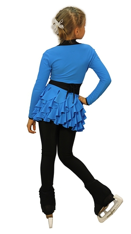 Термокомплект «Бабочка» голубой (юбка+боди+лосины+болеро+чехлы)