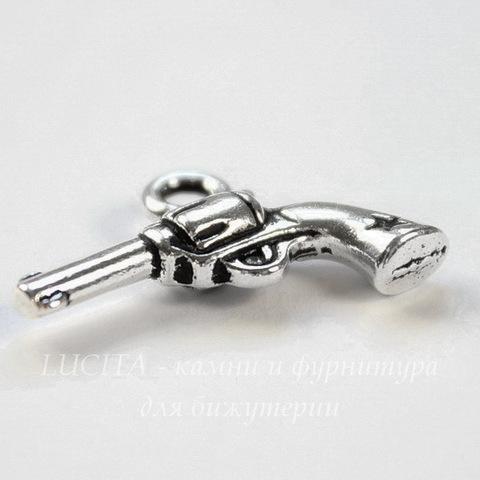 """Подвеска TierraCast """"Револьвер"""" (цвет-античное серебро) 20х14 мм"""
