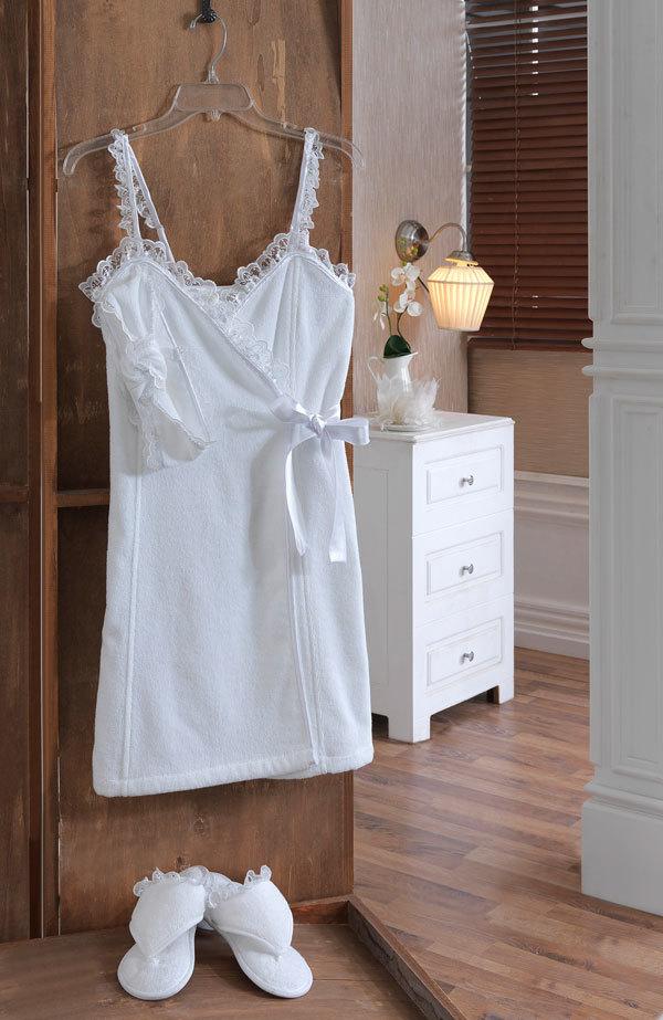 Наборы для Сауны Набор женский для сауны 3 предмета  LUNA белая  Soft cotton Турция LUNA_сауна_бел.jpg