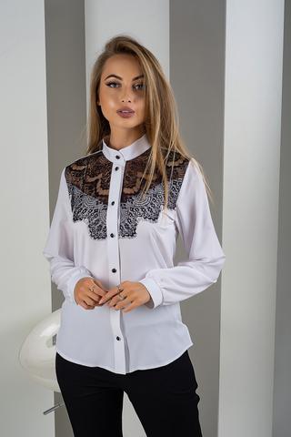 Джулия. Красивейшая блуза с кружевом. Белый