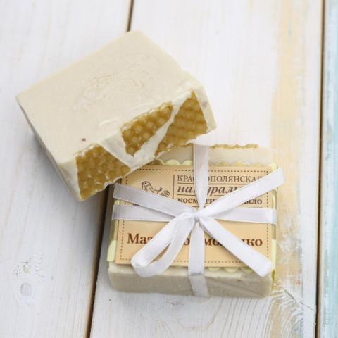 Мыло ручной работы Маточное молочко | Краснополянская Косметика