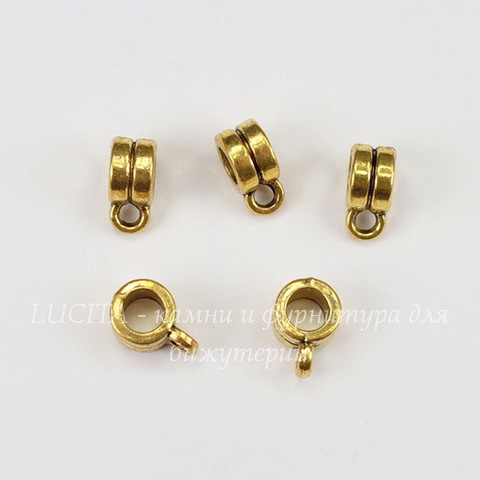 Бейл 6х4 мм (цвет - античное золото) , 5 штук