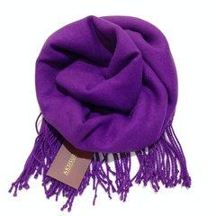Палантин кашемир фиолетовый 12