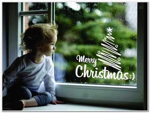 Новогодняя наклейка на окно