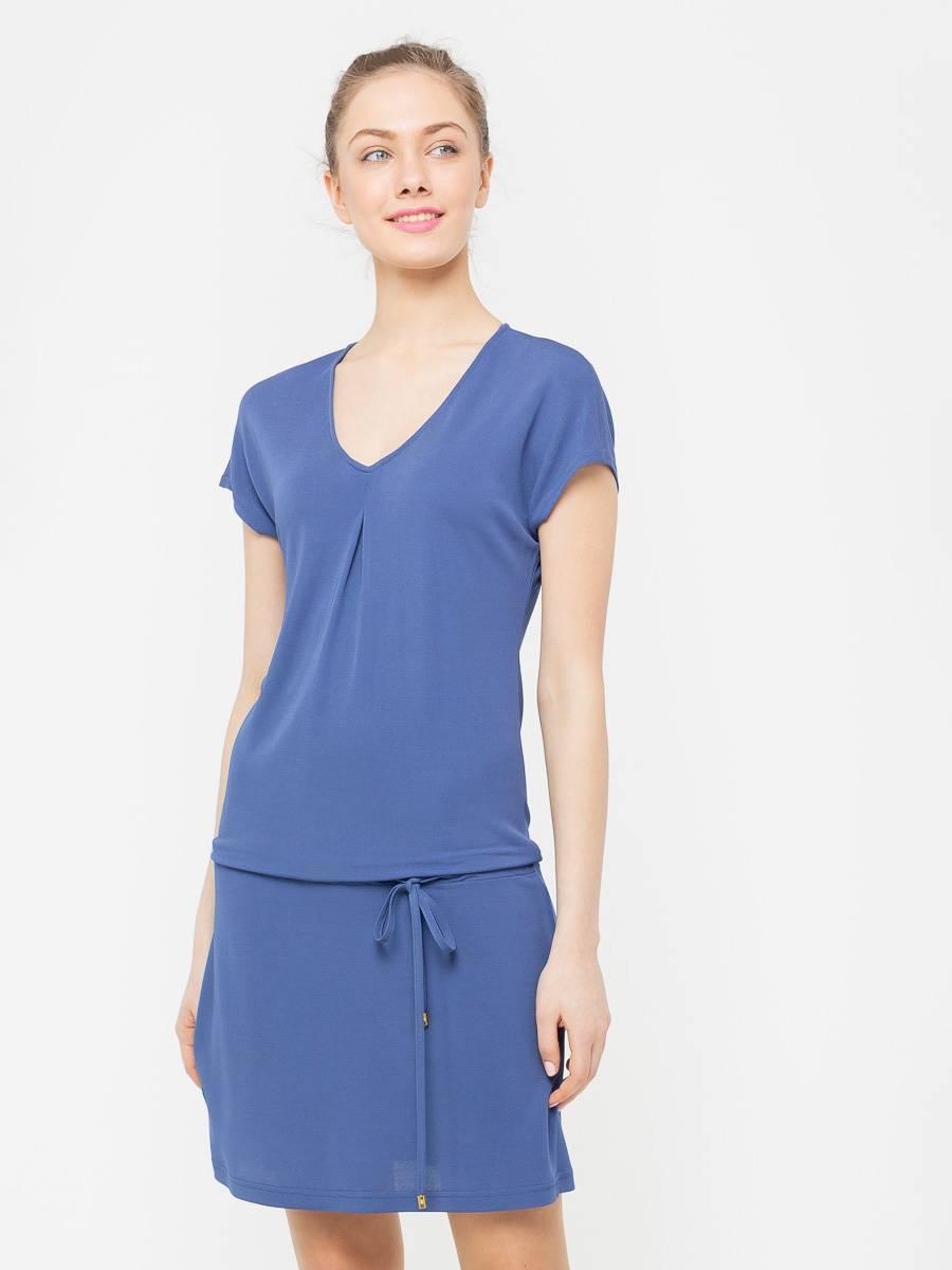 Платье З025-620 - Летнее платье из струящейся вискозы со спускной линией плеча и V-образным вырезом. Кулиска позволяет регулировать длину и носить его с напуском или без. Невероятно комфортное, оно станет вашем любимым платьем на каждый день .Смотрится ярко и стильно, хорошо сочетается как с обувью на каблуках так и на плоской подошве.