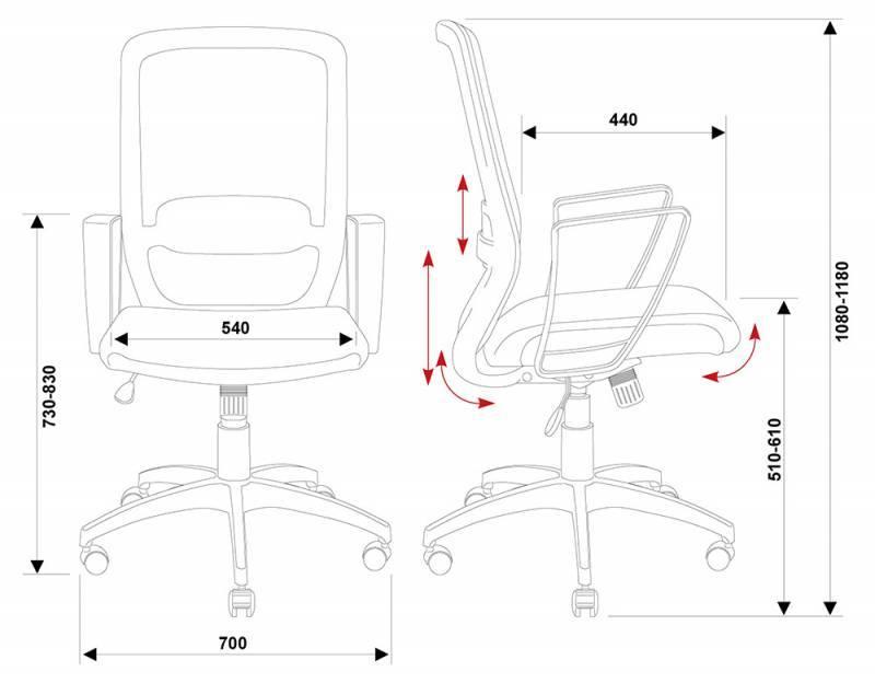 Кресло для персонала БЮРОКРАТ CH-899/TW-11