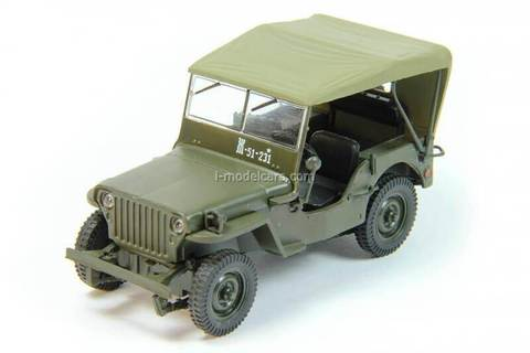 Jeep Willys MB Ford GPW 1:43 DeAgostini Auto Legends USSR #186