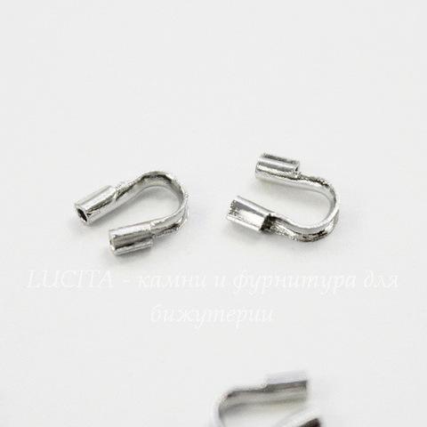 Защита ланки (тросика) от перетирания 5х4 мм (цвет -  никель), 10 штук