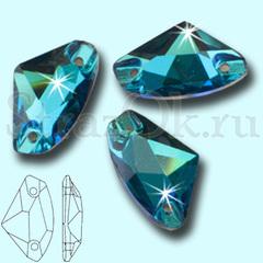 Купите стразы пришивные Galactic Blue Zircon для вышивки сине-зеленые